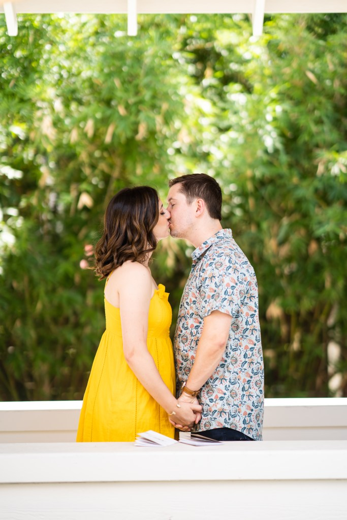 photo of vow renewal kiss
