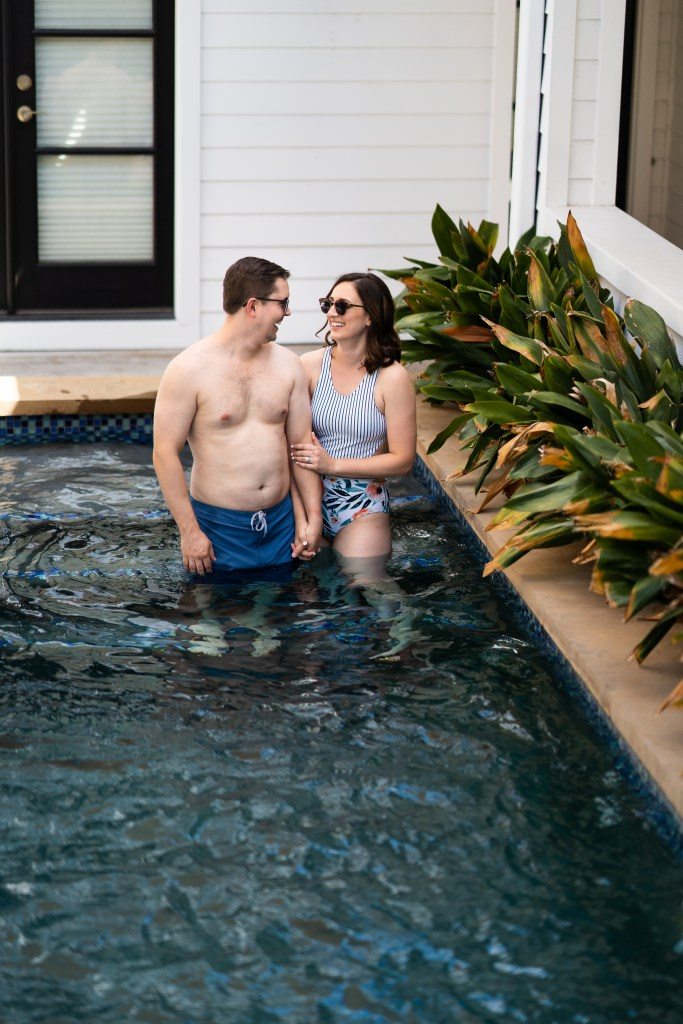 photo of couple in the pool