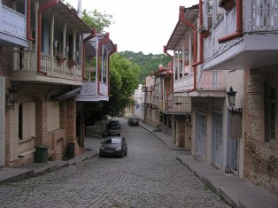 A street in Sighnaghi