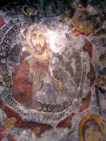 Christ Pantocrator -- usually this would be in the dome, but there isn't one, so it's a little irregular
