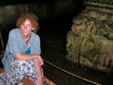 Medusa's Head column at the cistern
