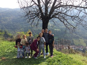 Charming countryside with kids