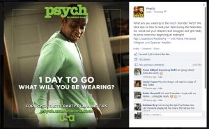 Psych Slumber Party Facebook