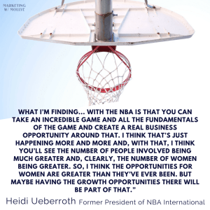 Heidi Ueberroth - More Women in Sports