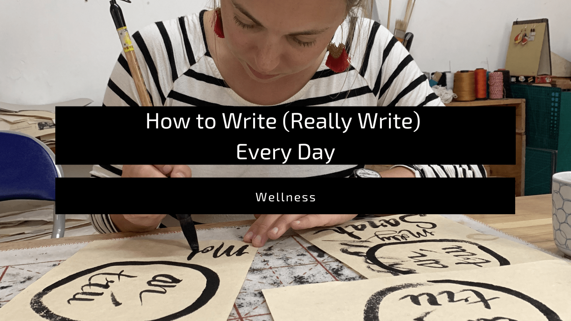 """featured image for the blog post, """"How to write (really write) every day"""""""