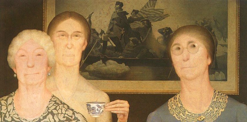 """Daughters of the Revolution"" (1932) by Grant Wood"