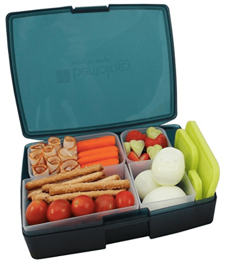 Bento lunch box with removable containers.