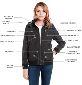 BauBax Women's Bomber travel jacket
