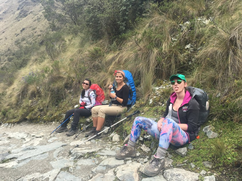 on the way to dead womans pass inca trail
