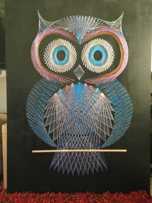 String Art Pattern Templates Owls