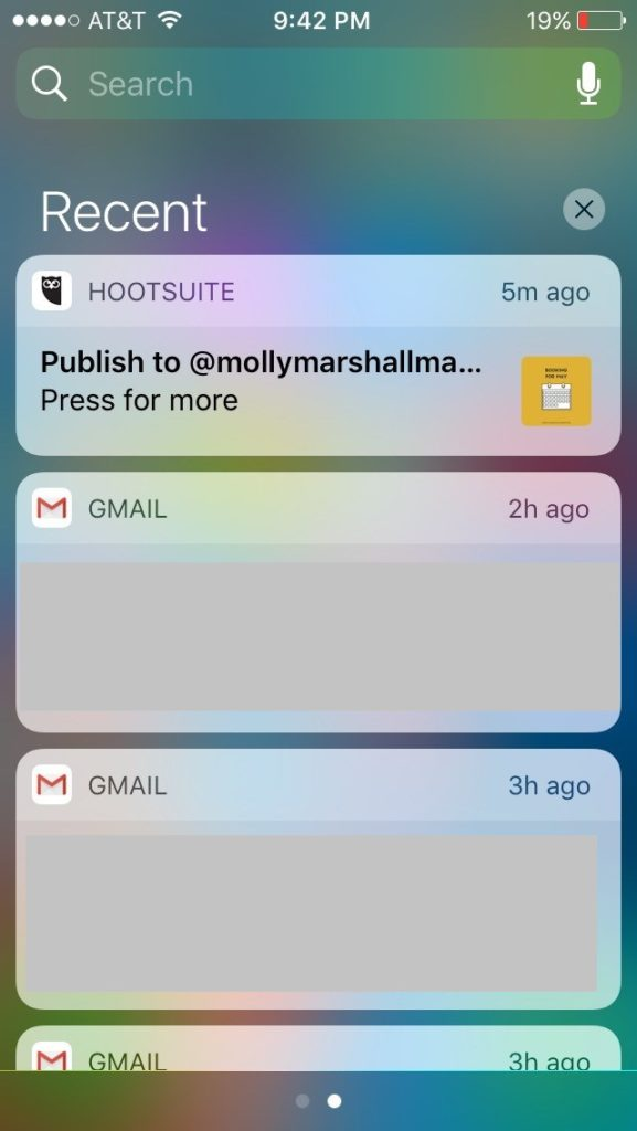 HootSuite will send a notification to your phone when it's time to post.