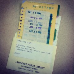 overdue Lawrence Public Library book