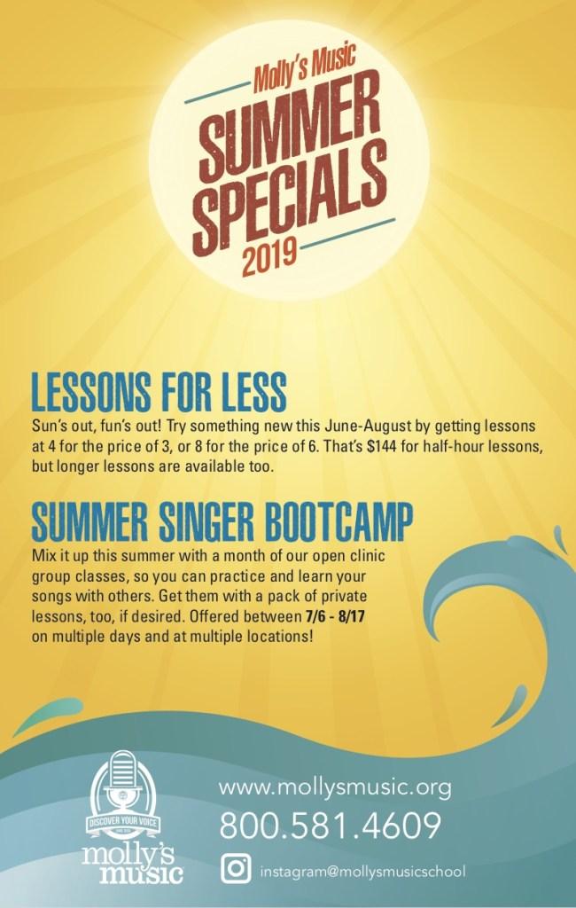 Summer Specials Molly's Music