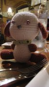 Early Work: One of my first designs by exploring a combination of crochet dog patterns. My friend named this Bozo.