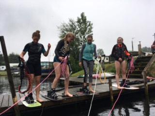 Girls on the dock-min