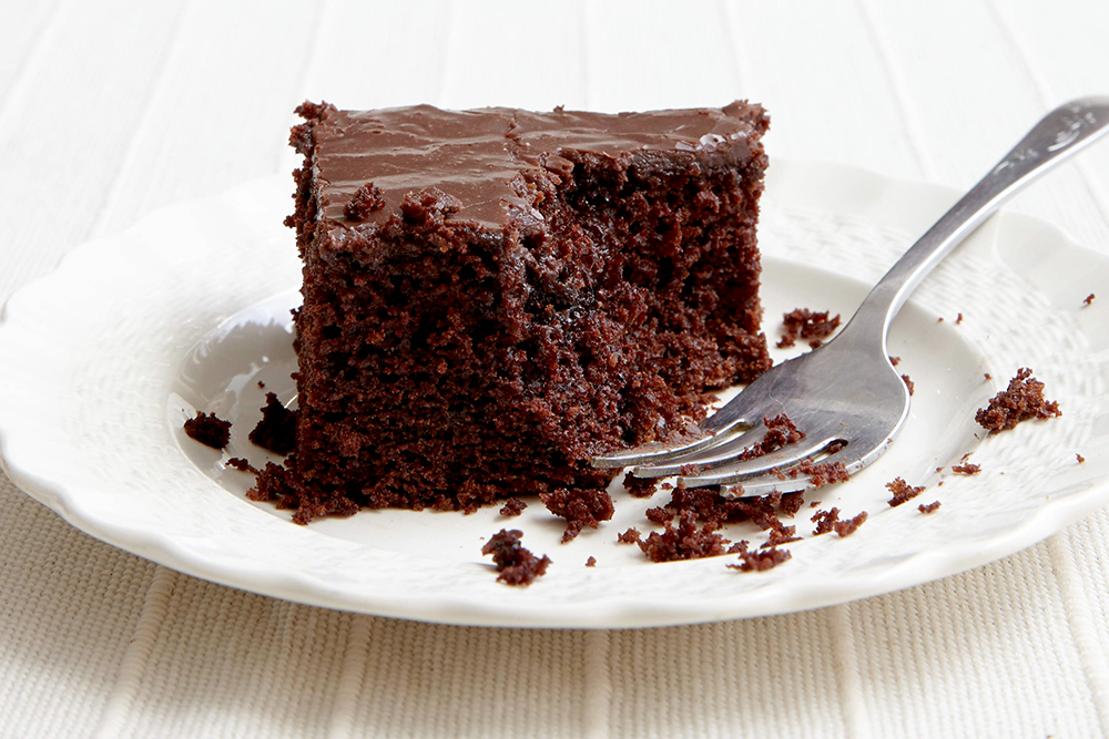 No, it's not chocolate – it's Carob Cake!!!