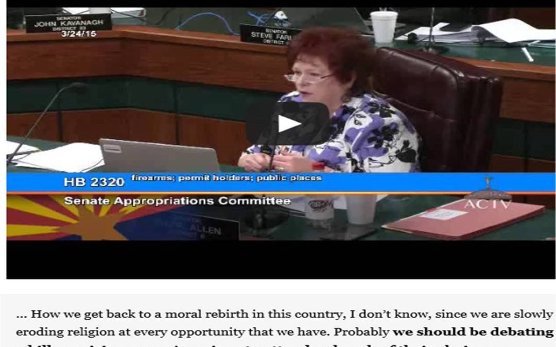Arizona Senator Sylvia Allen Says Sunday Law is needed! (VeryProphetic)
