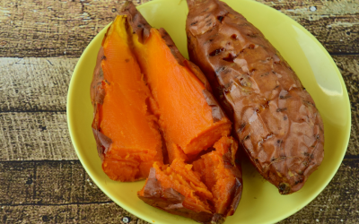 Baked Sweet Potato with Cashew Cream