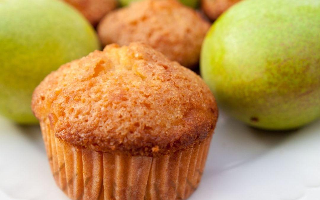 Honey Almond Pear Muffins