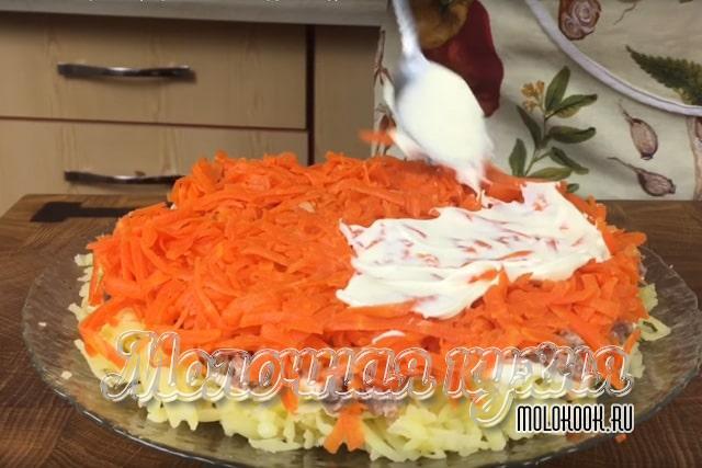 Crashing zanahorias hervidas