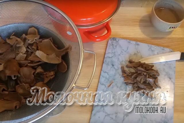 Skära svampar