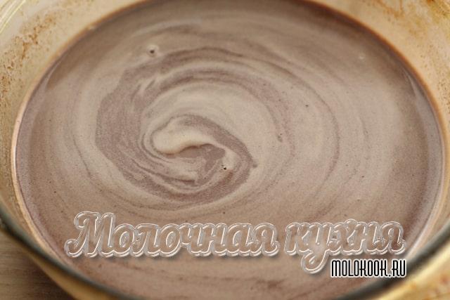 Mistura de chocolate-leite