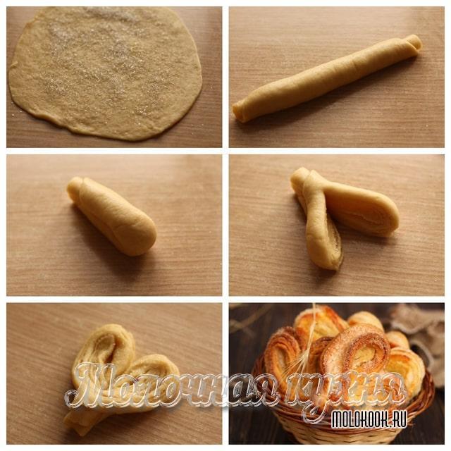 Формовка булочек в виде сердца