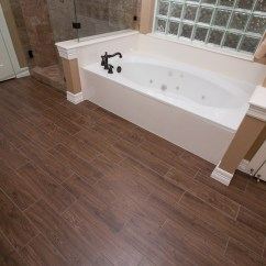Tile Flooring Kitchen L Shaped Table Wood-look Combines Style With Versatility ...