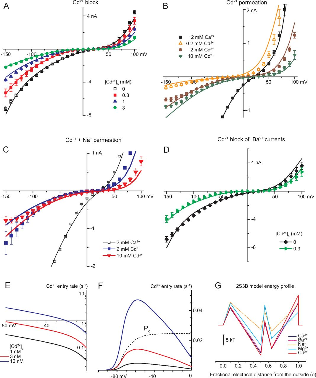 Cd2 Block And Permeation Of Cav3 1 1g T Type Calcium Channels Candidate Mechanism For Cd2