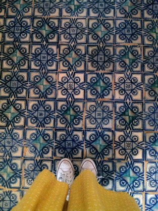 My filthy sneakers hanging out in Vatican City