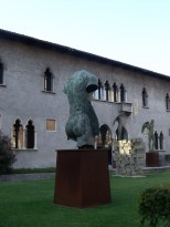 The courtyard of a Verona museum
