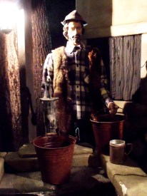 Also in the nativity compound, a lumberjack