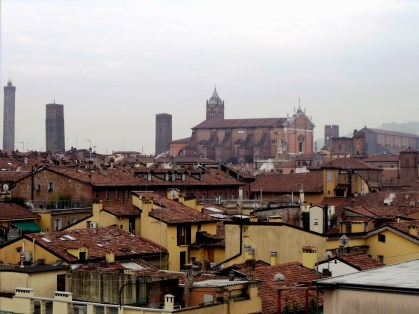 Bologna from our hotel window