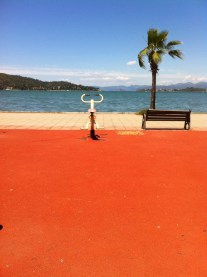 Also in Fethiye - a seaside gym. What a life.