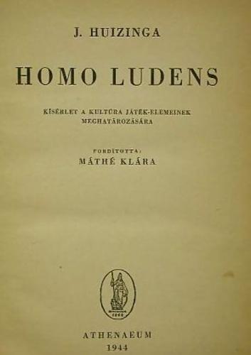 Homo ludens · Johan Huizinga · Könyv · Moly