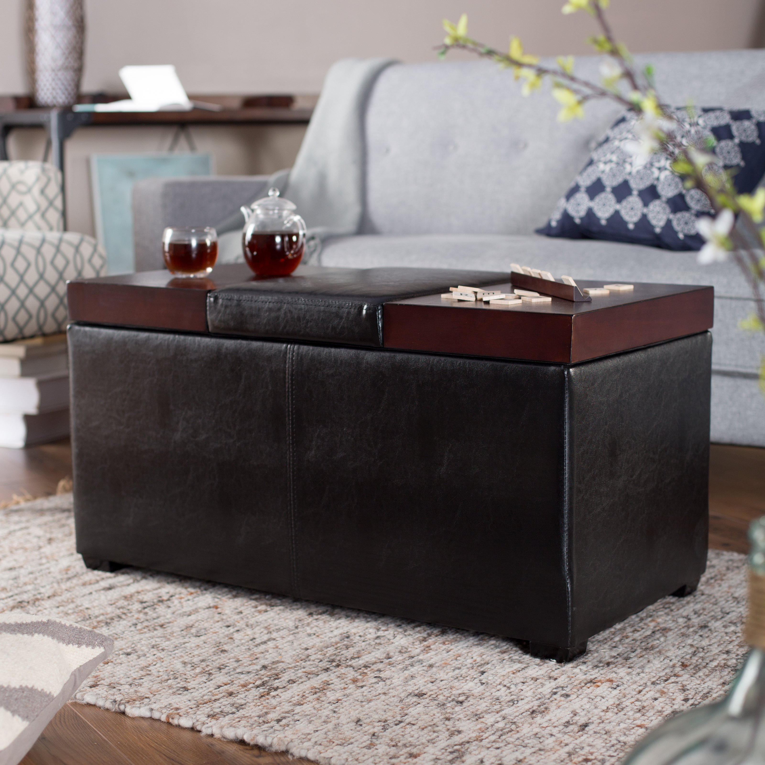 good softy coffee table ottoman with