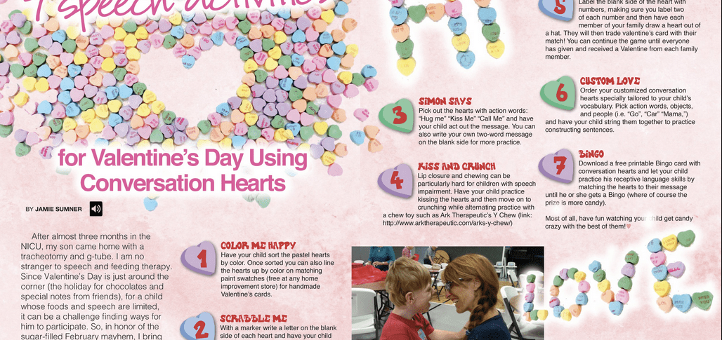 7 Speech Activities for Valentines Day Using Conversation Hearts