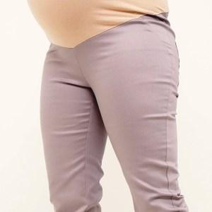 Beige Maternity Capri Pants