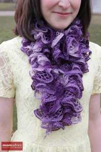 Easy Knitted Ruffled Scarf With Sashay Yarn