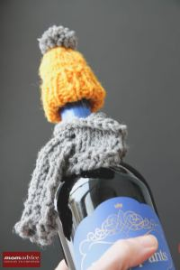 Knitted Wine Bottle Hat and Scarf - MomAdvice