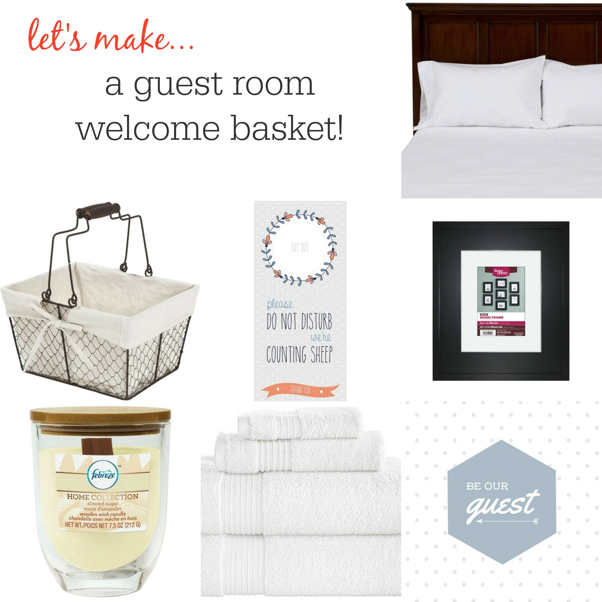 Make A Guest Room Welcome Basket With 5 FREE Printables MomAdvice