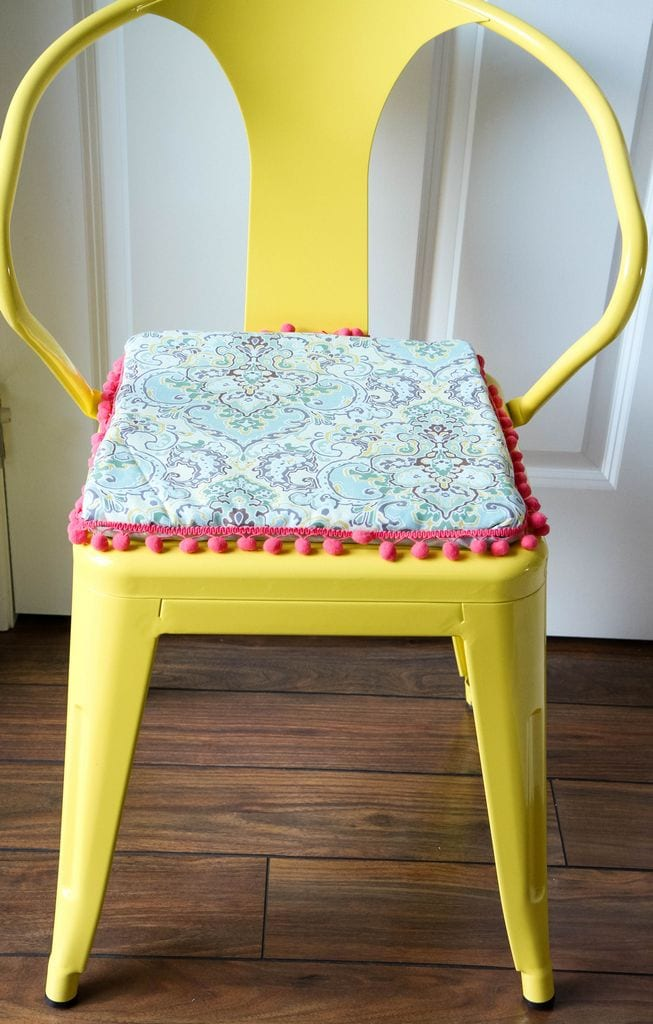 DIY NoSew Reversible Chair Cushions  MomAdvice