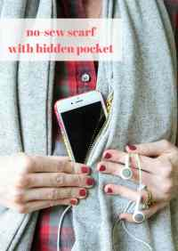 No-Sew Scarf With Hidden Pocket - MomAdvice