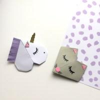 {DIY} Les jolis marques page animaux en origami!