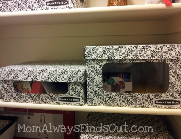 Fabric Covered Bankers Bo Great Idea For Crafting Storage