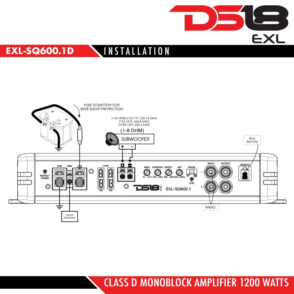 medium resolution of ds18 exl sq600 1d monoblock sub amplifier 1200 watt car subwoofer 1 on alpine