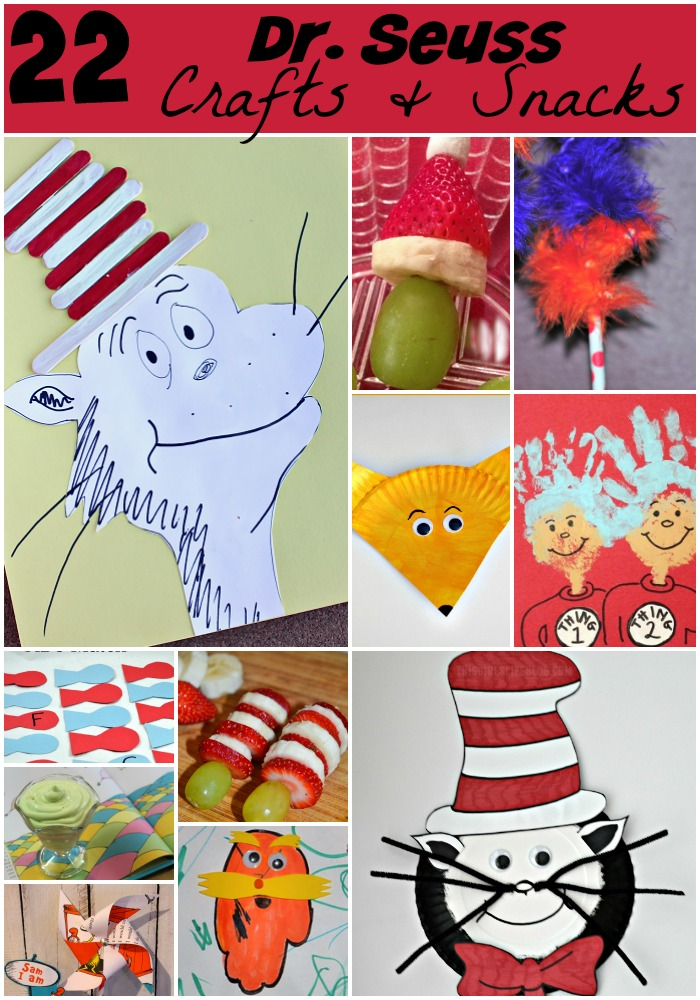 22 Dr Seuss Food Amp Craft Ideas CatInTheHat Mom Are We