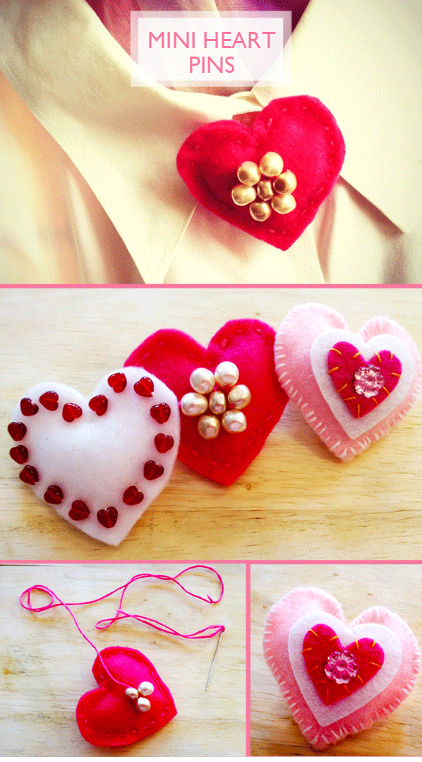 Momathon Blog Valentine Heart Pin DIY