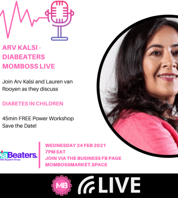 ARV KALSI – DIABEATERS MAGAZINE & SUPPORT GROUP  MOMBOSS FACEBOOK LIVE
