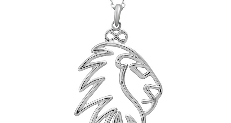SIMBA LION SILVER PLATED NECKLACE